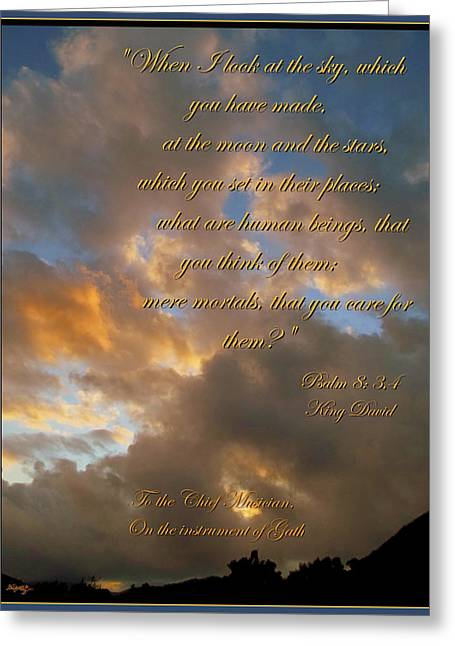 Alpha And Omega Greeting Cards - Psalm Eight Greeting Card by Glenn McCarthy Art and Photography