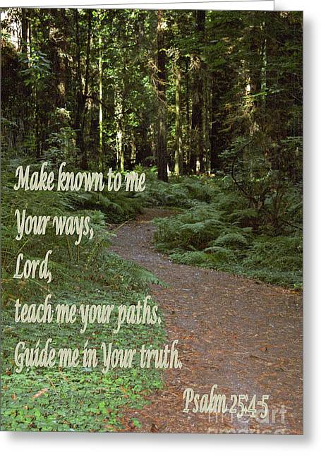 Pinterest Greeting Cards - Psalm  - Paths Greeting Card by Sharon Elliott