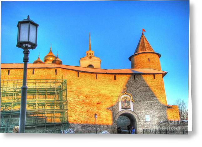 People Pyrography Greeting Cards - Pskov Russia Greeting Card by Yury Bashkin