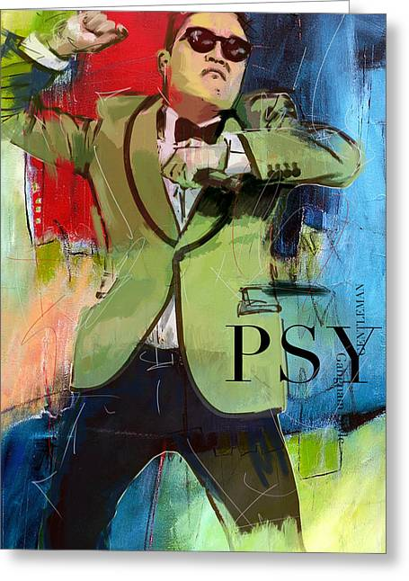 Dance Studio Greeting Cards - Psy Greeting Card by Corporate Art Task Force
