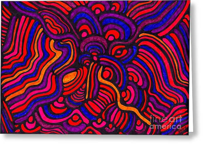 Psychedelia Greeting Cards - Psychedelia Greeting Card by Sarah Loft