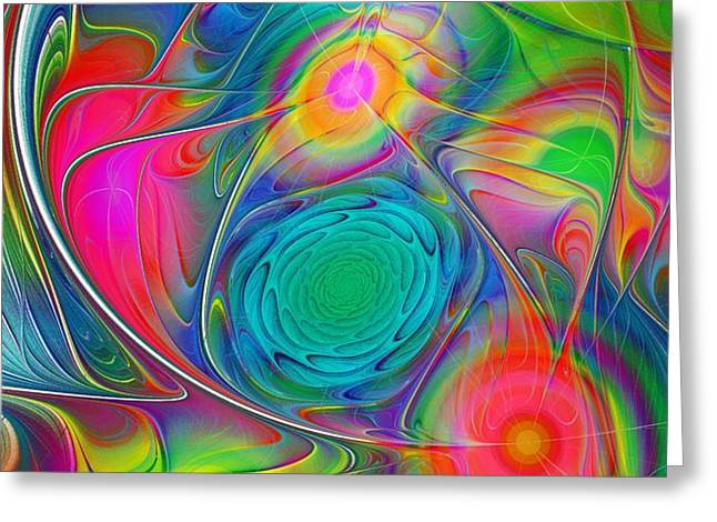Psychedelic Colors Greeting Card by Anastasiya Malakhova