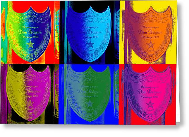 Sauvignon Greeting Cards - Psychedelic Dom Greeting Card by Jon Neidert