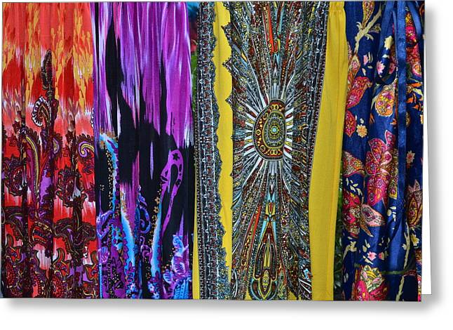 Psychedelic Dresses Greeting Card by Frozen in Time Fine Art Photography