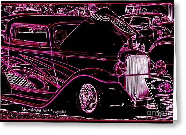 Print On Acrylic Greeting Cards - Psychedelic Mania Greeting Card by Bobbee Rickard