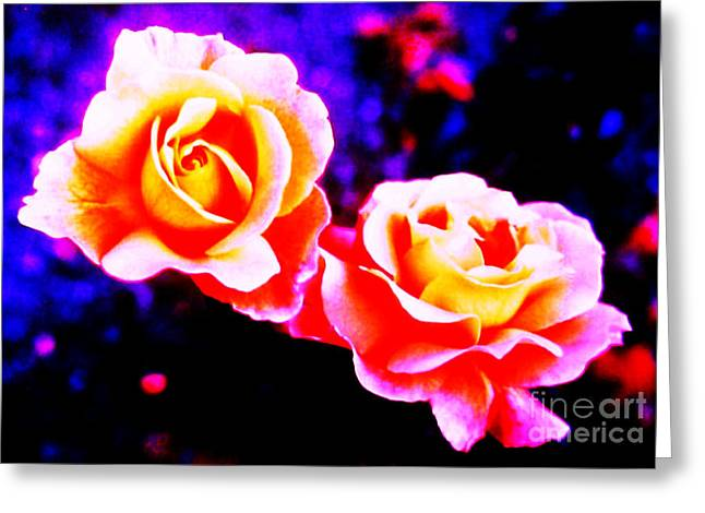 Most Viewed Greeting Cards - Psychedelic Roses Greeting Card by Martin Howard