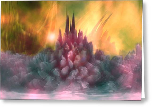 Abstract Expressions Greeting Cards - Psychedelic Tendencies   Greeting Card by Linda Sannuti