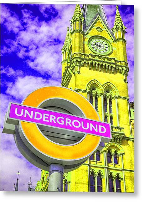 Express Greeting Cards - Psychedelic Underground Greeting Card by Stephen Stookey