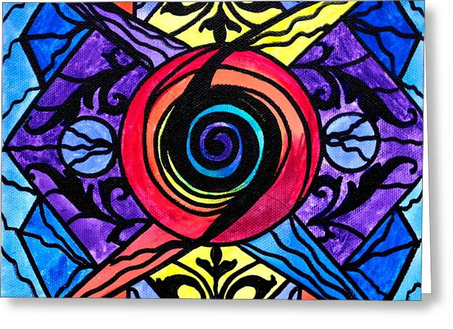 Allopathy Paintings Greeting Cards - Psychic Greeting Card by Teal Eye  Print Store