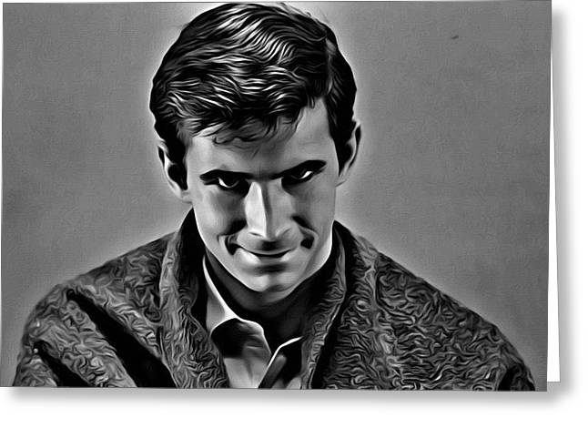 Bates Motel Greeting Cards - Psycho Greeting Card by Florian Rodarte