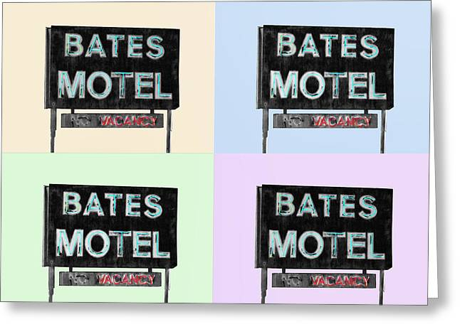 Norman Bates Greeting Cards - Psycho Four Ways Greeting Card by Dominic Piperata