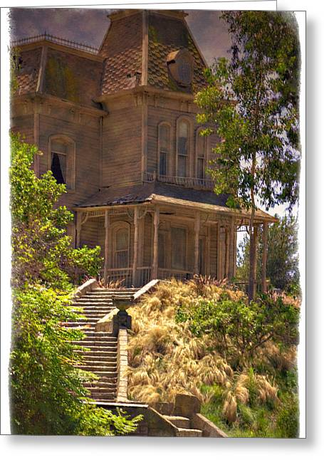 Norman Bates Greeting Cards - Psycho - Impressions Greeting Card by Ricky Barnard