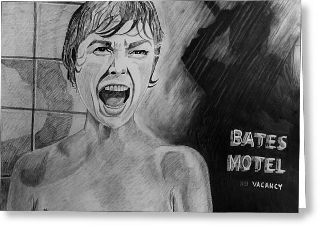 Bates Motel Greeting Cards - Psycho Greeting Card by Jeremy Moore