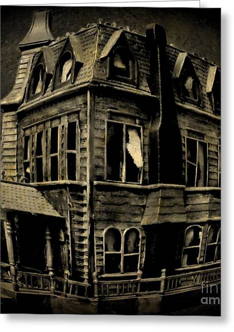 John Malone Work Digital Greeting Cards - Psycho Mansion Greeting Card by John Malone