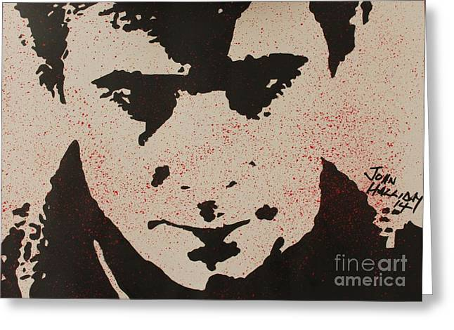 Norman Bates Greeting Cards - Psycho Norman Bates Greeting Card by John Halliday