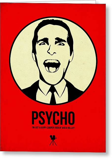 American Film Greeting Cards - Psycho Poster 1 Greeting Card by Naxart Studio
