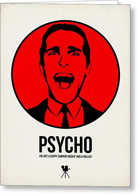 American Film Greeting Cards - Psycho Poster 2 Greeting Card by Naxart Studio