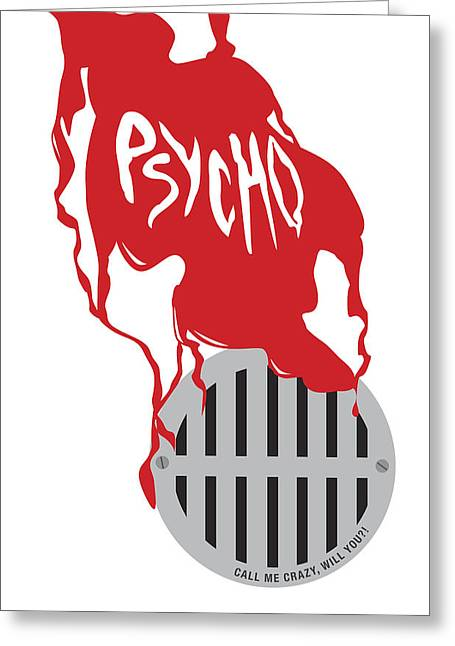 Bates Motel Greeting Cards - Psycho Greeting Card by Ron Regalado