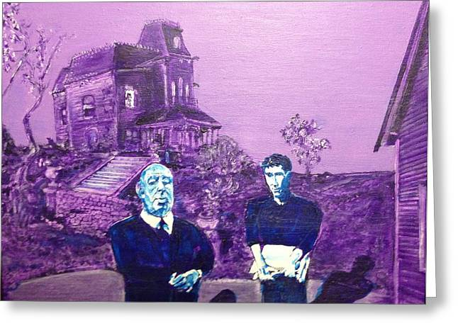 Bates Motel Greeting Cards - Psycho Set Greeting Card by Jonathan Morrill