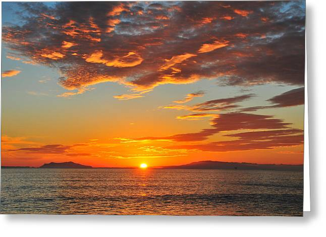 Ventura California Greeting Cards - Pt. Hueneme Sunset Greeting Card by Lynn Bauer