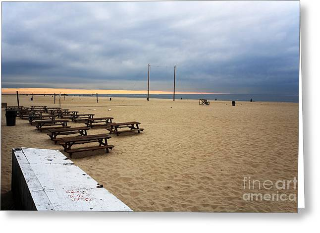 Pt. Pleasant Morning Greeting Card by John Rizzuto