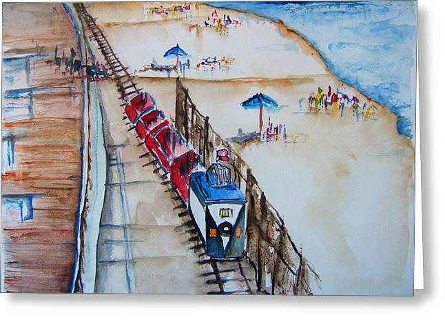 Jenkinsons Greeting Cards - Pt Pleasant NJ Sand Train Greeting Card by Elaine Duras
