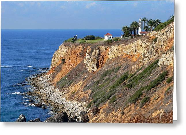 Big Sur Beach Greeting Cards - Pt. Vicente Lighthouse Greeting Card by Jeff Lowe