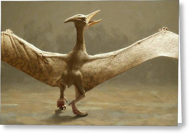 Colossal Greeting Cards - Pterosaur Greeting Card by Danny Smythe