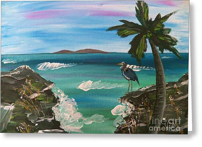 Ptg    Contemplation Greeting Card by Judy Via-Wolff