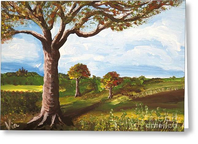 Judy Via-wolff Greeting Cards - Ptg. Late September Light Greeting Card by Judy Via-Wolff