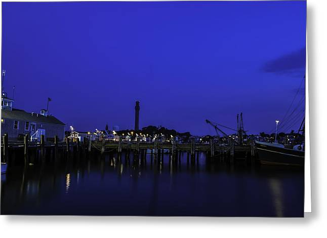 Ptown Greeting Cards - Ptown Pier Greeting Card by Art K
