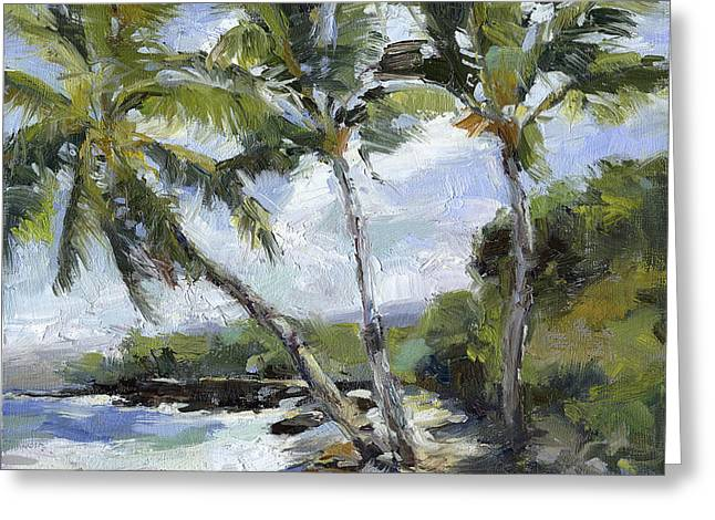 Lahaina Greeting Cards - Puako Palms Greeting Card by Stacy Vosberg