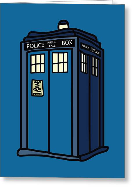 Fandom Greeting Cards - Public Call Box Greeting Card by Jera Sky