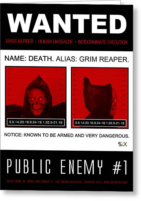 Public Issue Greeting Cards - Public Enemy #1 - Issue Print 17 Greeting Card by The Artist SIX