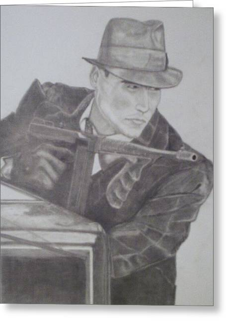 Tommy Gun Greeting Cards - Public Enemy  Greeting Card by Jose Cabral