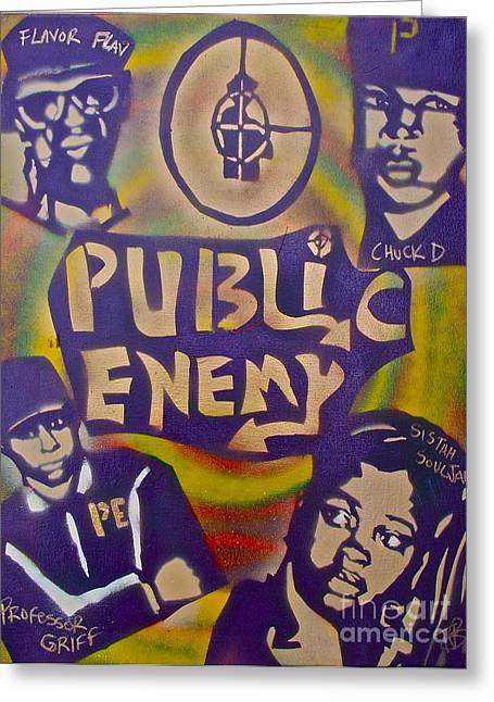 First Amendment Greeting Cards - Public Enemy number one Greeting Card by Tony B Conscious
