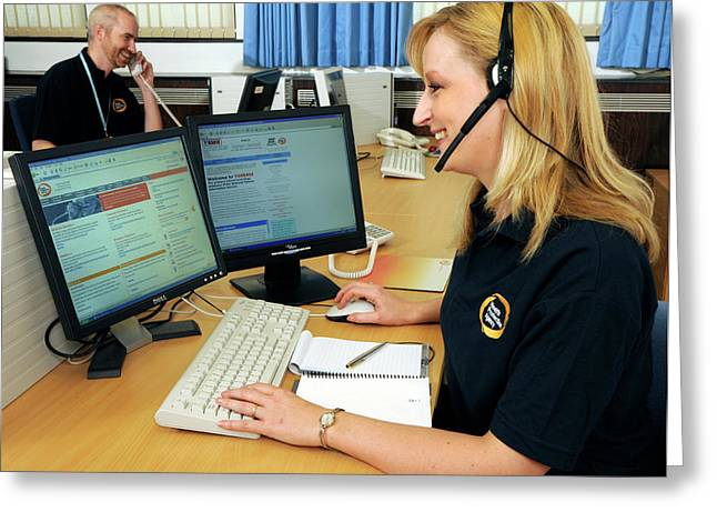 Public Health Call Centre Greeting Card by Public Health England