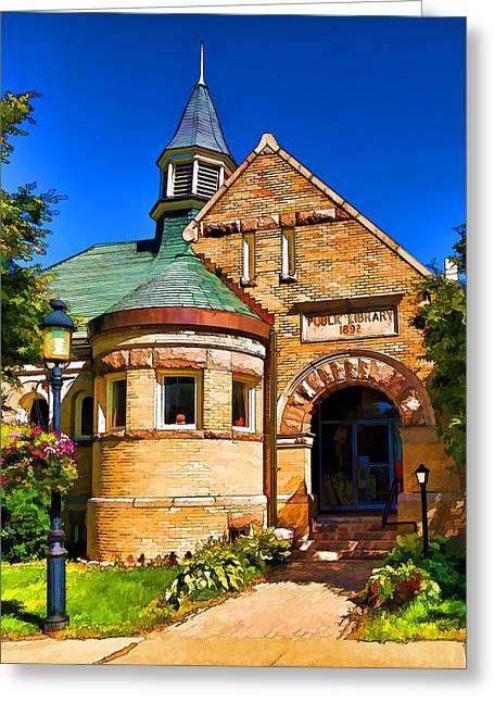 Cupola Greeting Cards - Public Library 1892 - 1 Greeting Card by Bill Caldwell -        ABeautifulSky Photography