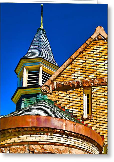 Cupola Greeting Cards - Public Library 1892 - 2 Greeting Card by Bill Caldwell -        ABeautifulSky Photography