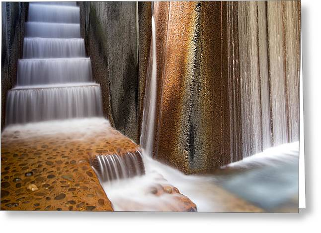 Cast Concrete Greeting Cards - Public Parks Water Fountain Closeup Greeting Card by JPLDesigns