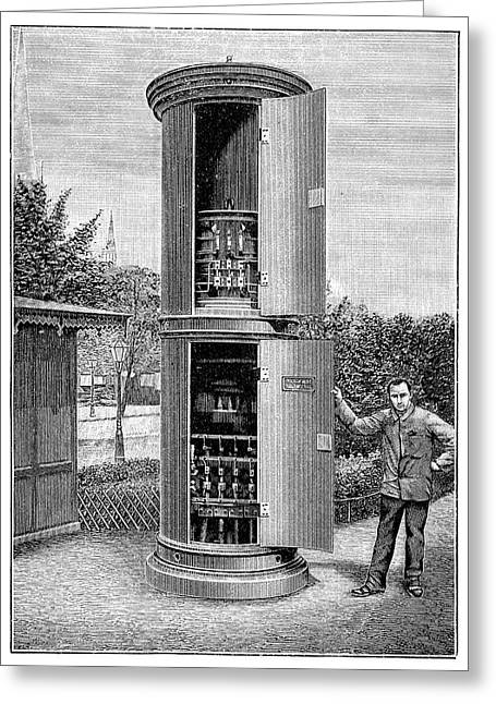 Public Transformer Station Greeting Card by Science Photo Library