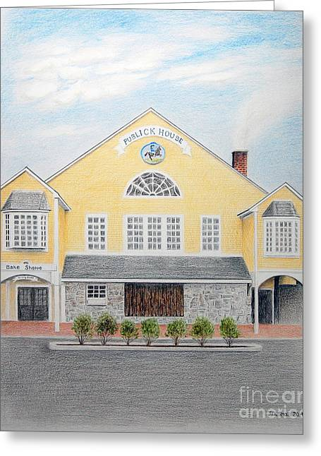 Historic England Drawings Greeting Cards - Publick House Greeting Card by John Small