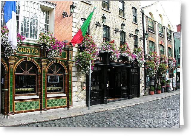 Green Lantern Photographs Greeting Cards - Pubs In Dublin Greeting Card by Mel Steinhauer