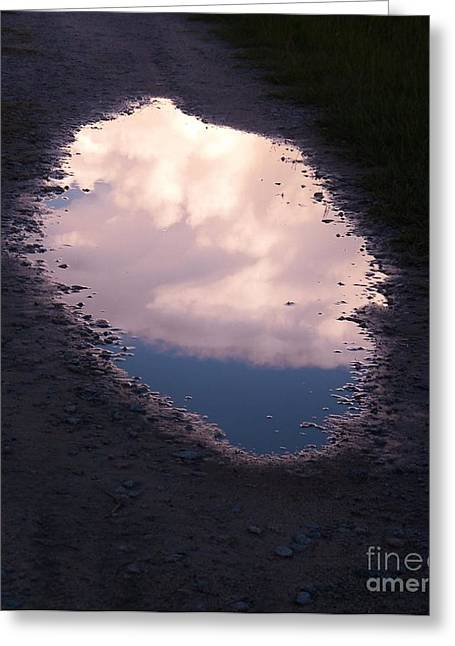Window Of Life Greeting Cards - Puddle Of Clouds Greeting Card by Matthew Seufer
