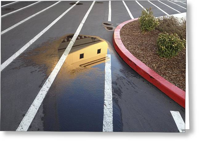 Puddle Greeting Cards - Puddle View Greeting Card by Mark Greenberg
