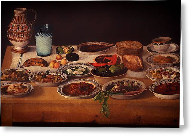 Puebla Greeting Cards - Puebla Kitchen Greeting Card by Anonymous