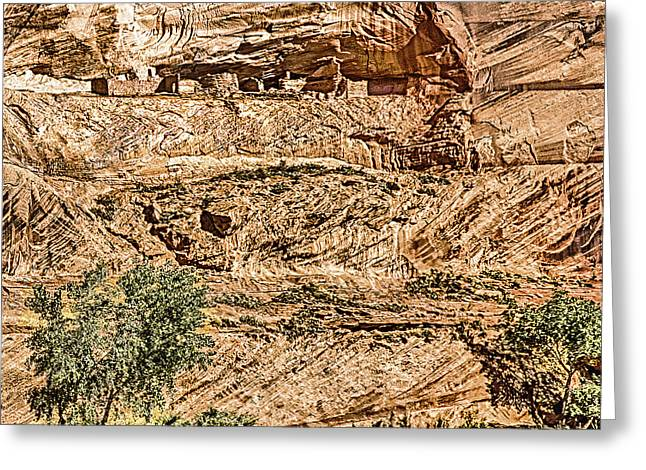 The Plateaus Digital Greeting Cards - Pueblo 2 Canyon De Chelly Navajo Nation Greeting Card by  Bob and Nadine Johnston