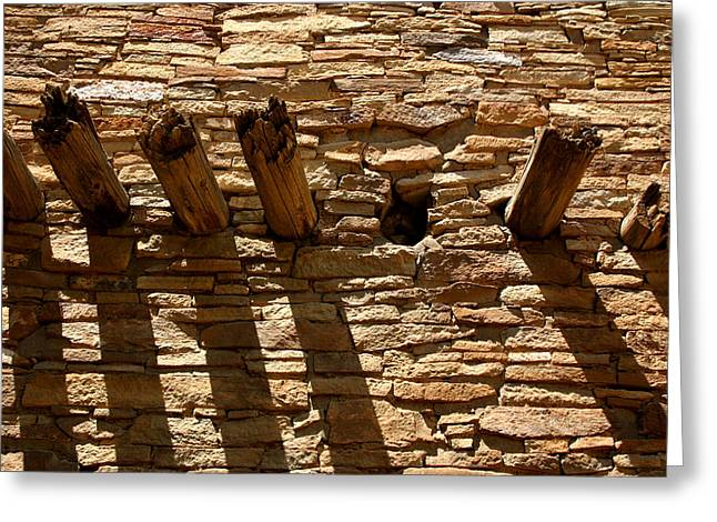 Chaco Canyon Greeting Cards - Pueblo Bonito Wall Greeting Card by Joe Kozlowski