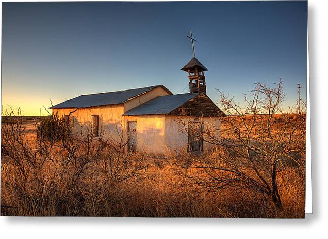 Pueblo Architecture Greeting Cards - Pueblo Church Greeting Card by Peter Tellone