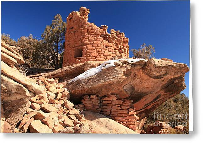 Ancient Ruins Greeting Cards - Pueblo Cliff Greeting Card by Adam Jewell